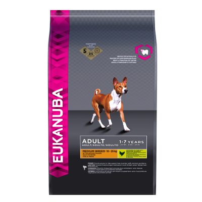 Eukanuba Adult Medium Breed, Kyckling  15 kg, 3 kg