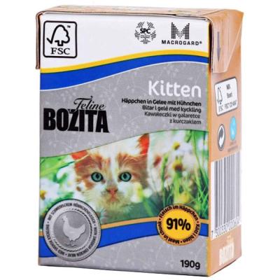 Bozita Bucăți în Jeleu Feline Kitten cu Pui Suedez 190 g