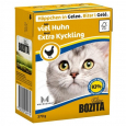 Bozita Chunks in Jelly with Extra Chicken 370 g - Food for kittens