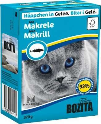 Bozita Chunks in Jelly with Mackerel 370 g