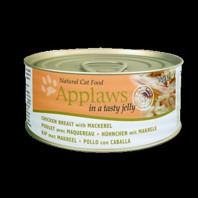 Applaws Cat Dose Kana & Makrilli hyytelössä 70 g, 24x70 g