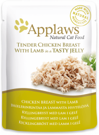 Sachets Natural Cat Food Blanc de Poulet et Agneau en Gelée Applaws 5060333431099