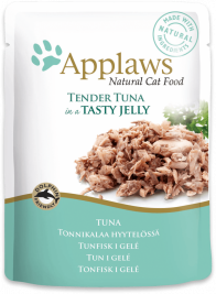 Sachets Natural Cat Food Thon en Gelée Applaws 5060333431112