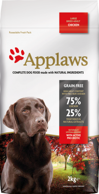Applaws Adult Large Breed kansaa Kana  7.5 kg, 2 kg, 15 kg