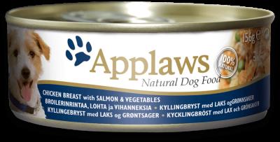 Applaws Dog Dose Kana, Lohi & Vihannekset  156 g