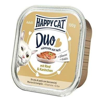 Happy Cat Duo Hapjes Rund & Konijn 100 g