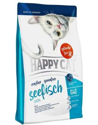 Happy Cat Sensitive Grainfree Zee Vig met Pluimvee en Aaardappel 4 kg, 300 g, 1.4 kg