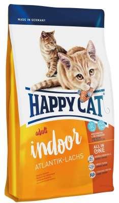 Happy Cat Supreme Indoor Atlantische Zalm 10 kg, 4 kg, 1.4 kg, 300 g