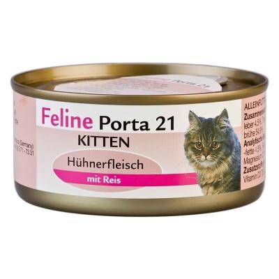 Feline Porta 21 Feline Porta 21 Kitten:Kip met Rijst 90 g