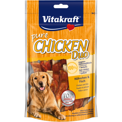 Vitakraft Pure Chicken Duo - Chicken & Fish Kip & Vissen 80 g