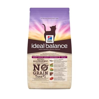 Hill's Ideal Balance Feline Adult No Grain med Tunfisk og Potet 300 g, 2 kg