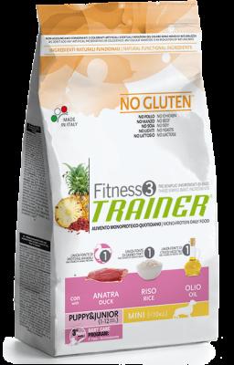 Nova Foods Fitness3 Trainer - Puppy&Junior Medium/Maxi mit Ente, Reis & Öl Ente & Reis 12.5 kg