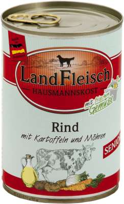 Landfleisch Hausmannskost Senior Rind mit Kartoffeln und Möhren Dose  400 g