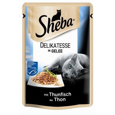 Sheba Delicadeza com Atum em Gelatina Saquetas 85 g