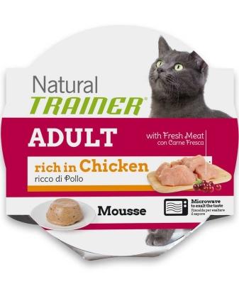 Nova Foods Natural Trainer Mousse Cat - Adult com Frango fresco 85 g