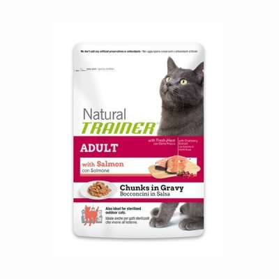 Nova Foods Beutel Natural Trainer Cat - Adult Häppchen in Soße mit Lachs 85 g
