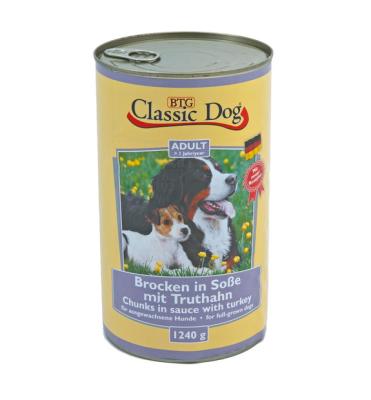 Classic Dog Can Turkey  1.24 kg