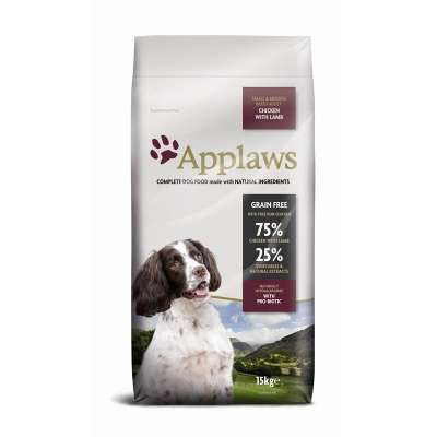 Applaws Small Medium Breed Adult Kip met Lam  2 kg, 15 kg, 7.5 kg