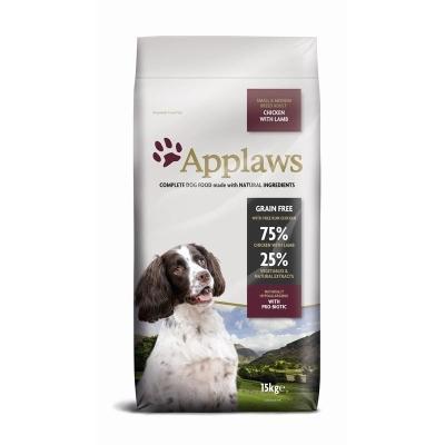 Applaws Small Medium Breed Adult Kip met Lam  7.5 kg, 2 kg, 15 kg