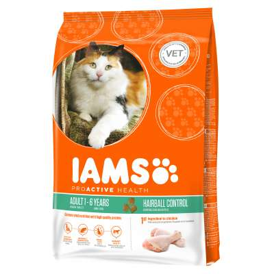 Iams Pro Active Health Adult Hairball Control 2.55 kg, 10 kg