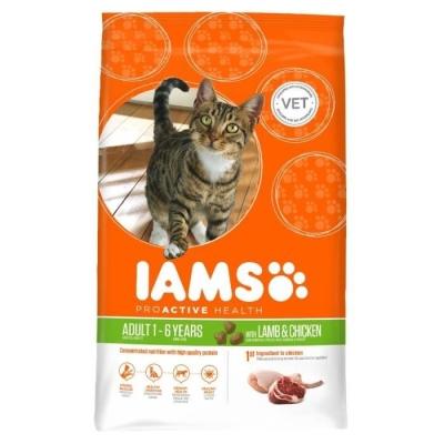 Iams Cat Proactive Health Adult met Lam & Kip 1.5 kg, 10 kg, 3 kg, 300 g, 15 kg
