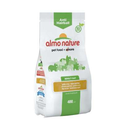 Almo Nature Adult Anti-Hairball Huhn und Reis 2 kg, 400 g