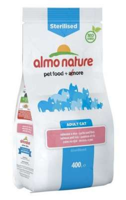Almo Nature Sterilised Adult Cat mit Lachs und Reis 2 kg, 400 g