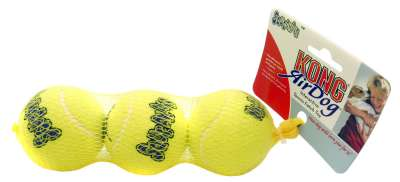 KONG Air Dog Squeakair Tennisball S Gelb