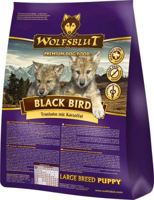 Wolfsblut Black Bird Large Breed Puppy met Kalkoen en zoete Aardappelen 2 kg