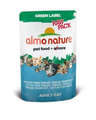 Almo Nature Green Label Raw Pack Wet Tonggol Thunfischfilet 55 g