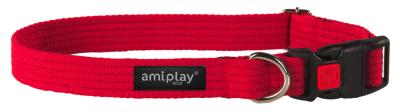 amiplay Regulierbares Halsband mit Verschluss Cotton Rot XL