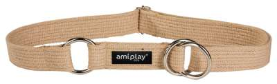 Amiplay Half-check Cotton Collar Beige M