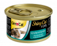 GimCat ShinyCat in Jelly Chicken with Shrimp 70 g billigt