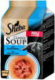 Sheba Classic Soup - Thunfischfilets 4x40 g - Futter für ältere Katzen