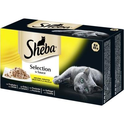 Sheba Selection in Sauce Fjærkre Variasjon 8x85 g, 32x85 g