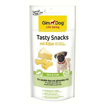 GimDog Tasty Snacks with Cheese + Skin & Coat 40 g