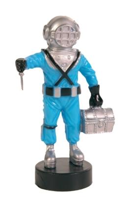 Trixie Plongeur avec Pompe à Air Bleu clair 10 cm