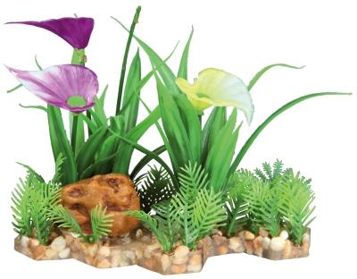 Trixie Kunststoffpflanze im Kiesbett 13 cm