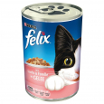 Chunks with Salmon & Trout in Jelly 400 g från Felix