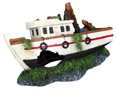 Trixie Bootswrack Weiß 15 cm