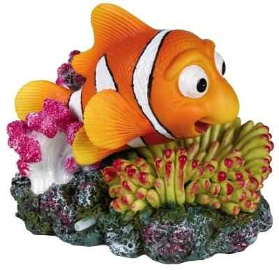 Trixie Clownfisch und Koralle mit Ausströmer Verschiedenfarbig 12 cm