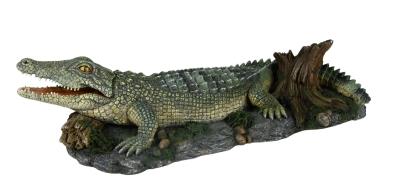 Trixie Krokodil mit Luftpumpenanschluss Dunkelgrün 26 cm