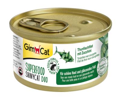 GimCat Superfood ShinyCat Duo Thunfischfilet mit Zucchini 70 g