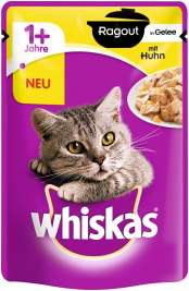 Whiskas 1+ Ragout con Pollo in Gelatina  85 g
