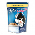 """Tan bueno como parece"" Junior con Pollo en Gelatina  100 g  de Gatos"