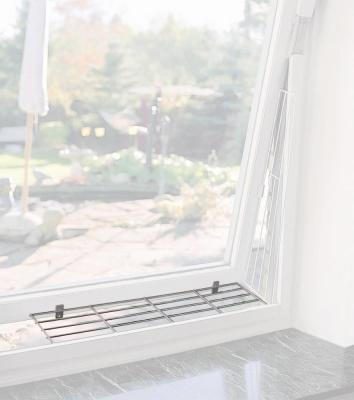 Trixie Griglia di protezione per finestre, Superiore/inferiore 65x16 cm