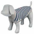 Trixie Milton Pullover, grey/blue, striped  60x58 cm