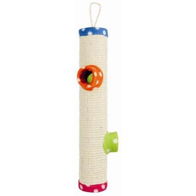 Trixie Playing Roll, Sisal/fleece Colorfulness ø9×51 cm