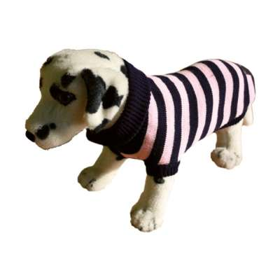 amiplay Dog Sweater, Size 26 cm, Pink stripes 21 cm Pink Stripes