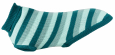 Trixie Burnaby Pullover, petrol blue/mint  55x60 cm